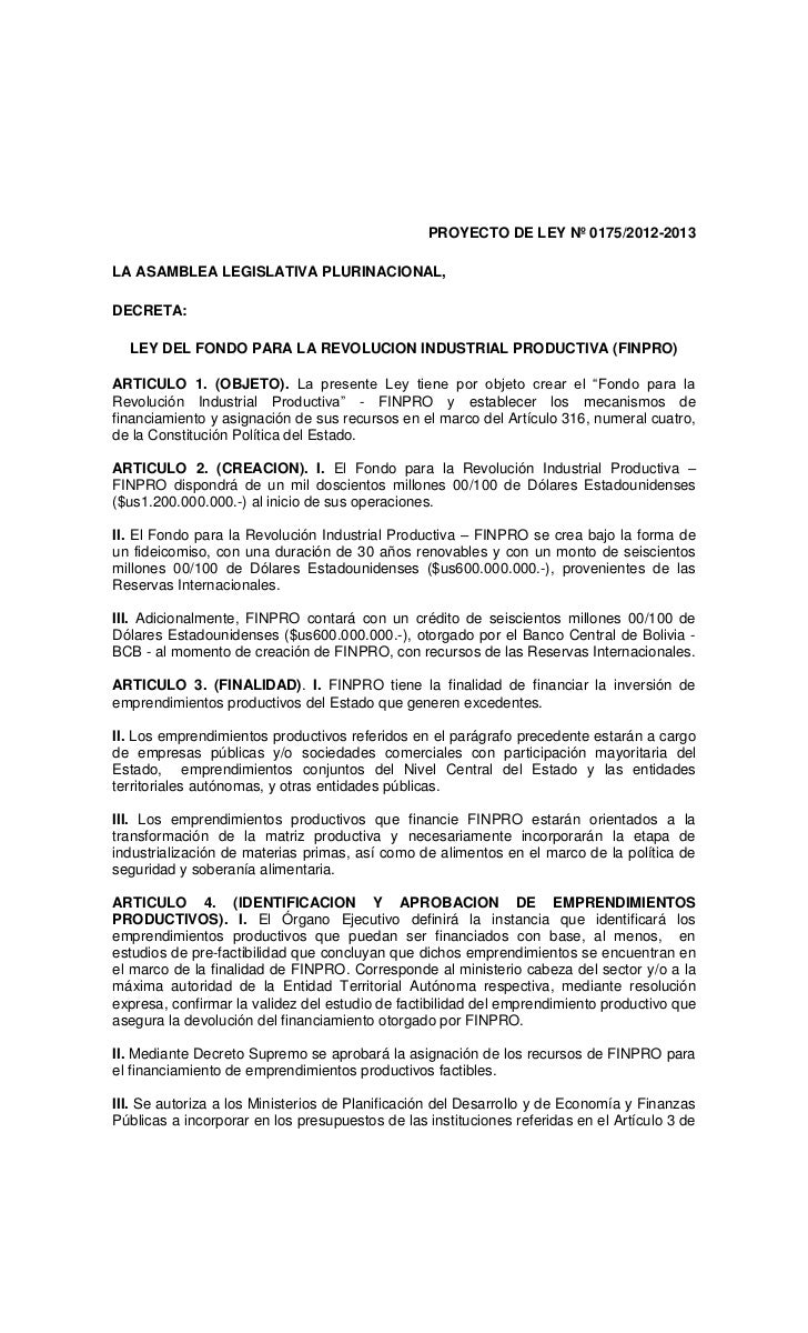 Proyecto de ley finpro aprobado en diputados