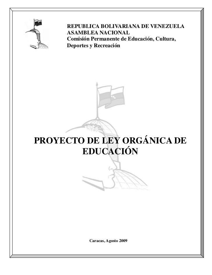 Proyecto De Ley Organica De Educacion (Definitivo)