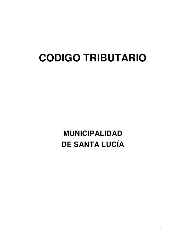 Codigo Tributario 2010 Santa Lucia