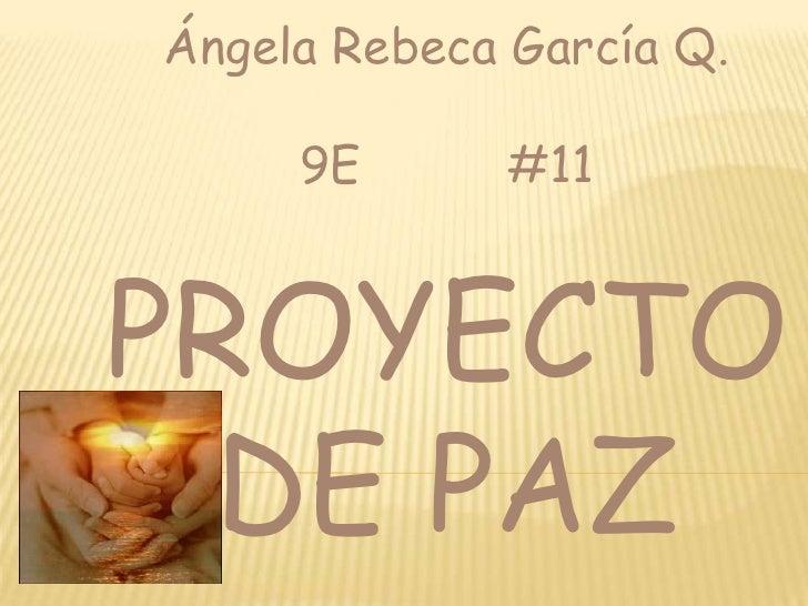 Proyecto De Paz