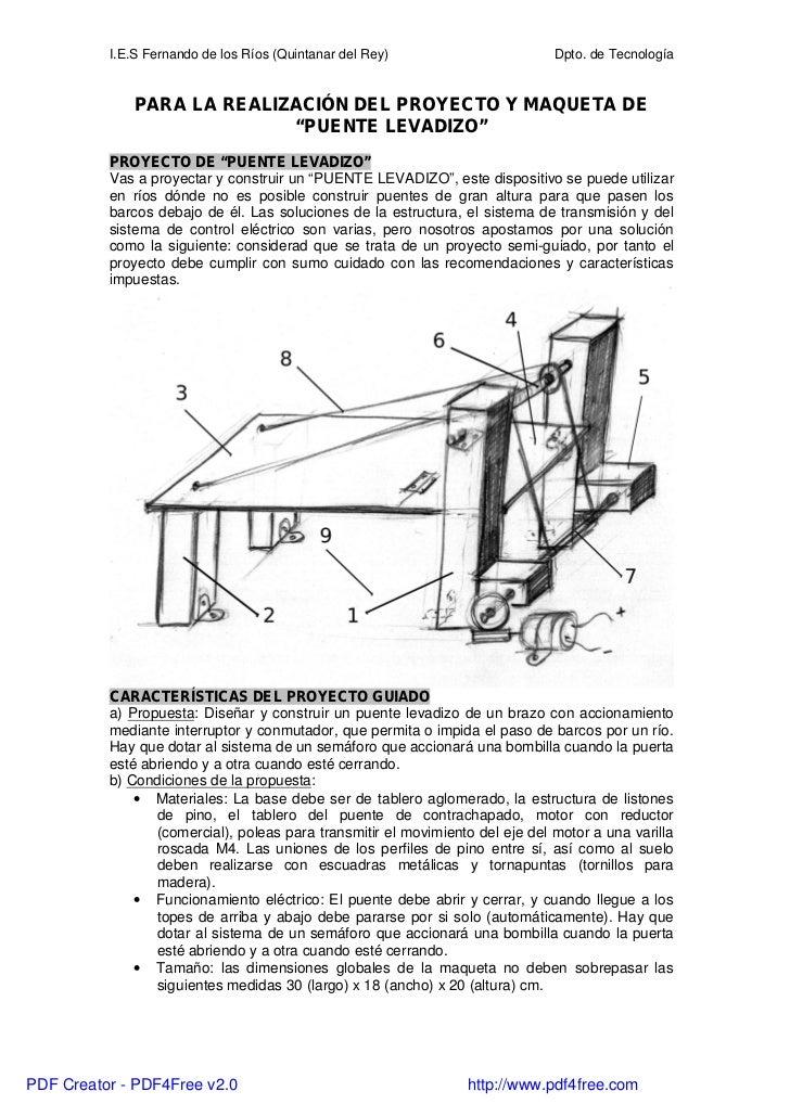 I.E.S Fernando de los Ríos (Quintanar del Rey)                       Dpto. de Tecnología              PARA LA REALIZACIÓN ...