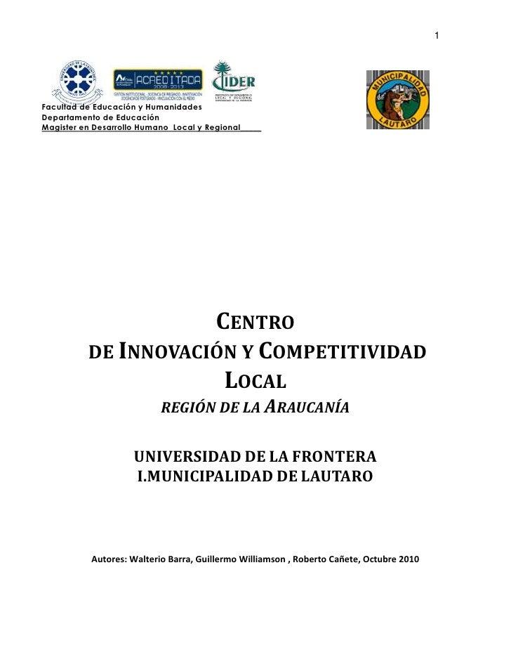 Proyecto Desarrollo Local Endogeno Productivo 2010 Final 6 Sept Con Autores