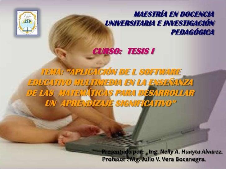 Proyecto de tesis sobre software educativo