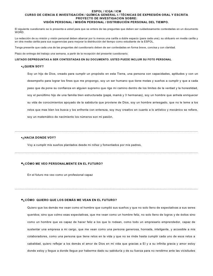 Proyecto De  Vida Cesar Madrid