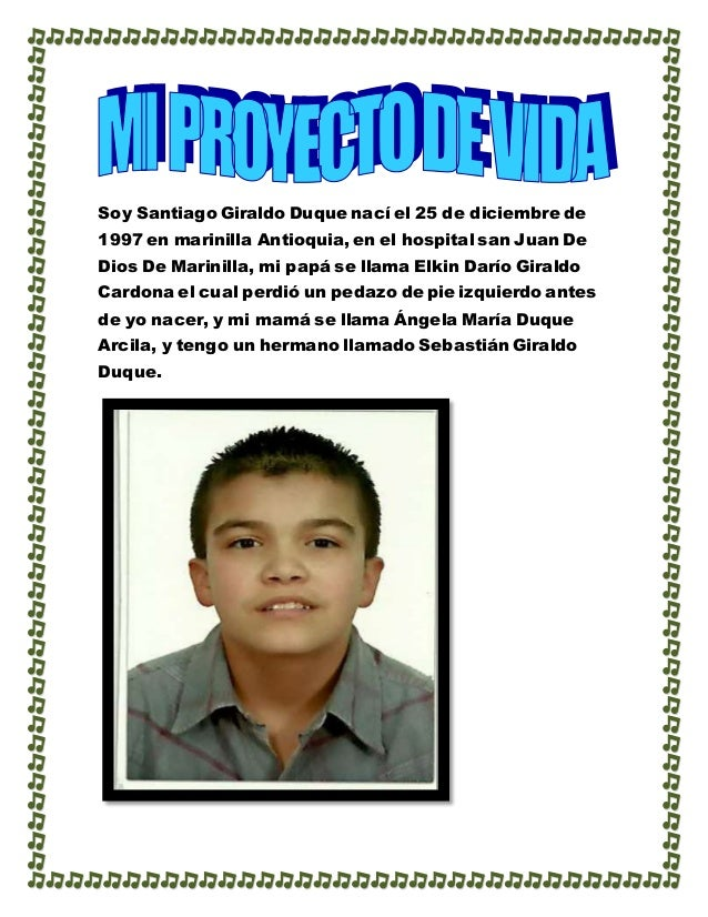 Soy Santiago Giraldo Duque nací el 25 de diciembre de 1997 en marinilla Antioquia, en el hospital san Juan De Dios De Mari...