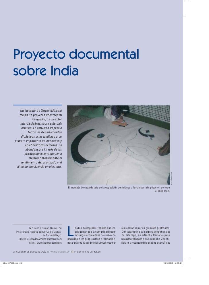 Proyecto documentalsobre India      Un instituto de Torrox ( Málaga)     realiza un proyecto documental                int...