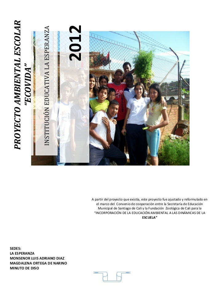 Proyecto ecologia y medio ambiente 2012