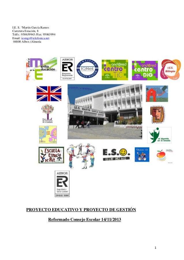 Proyecto educativo  reforma 14-11-2013