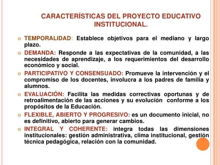 Proyecto educativo institucional copia for La accion educativa en el exterior