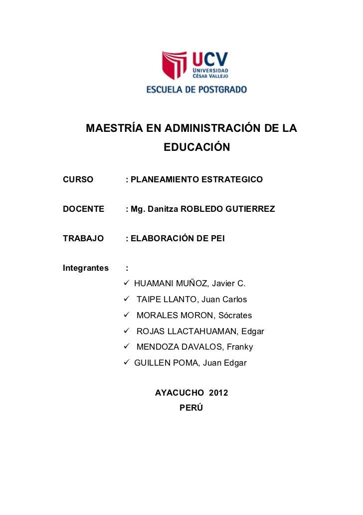 Proyecto educativo institucional   jorge basadre