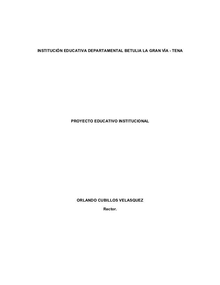 Proyecto educativo institucional 2011 (1)