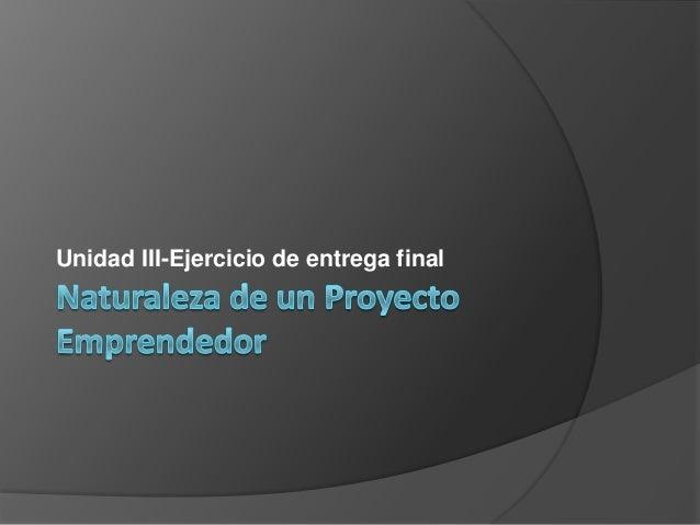 Proyecto emprendedor