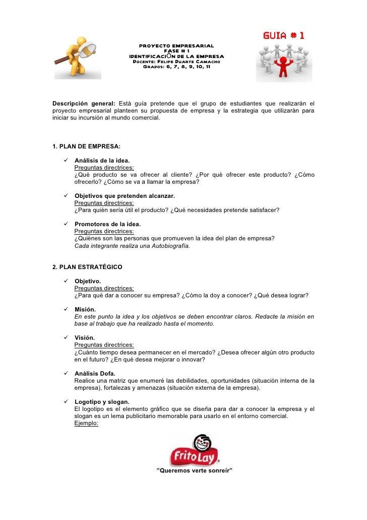 Proyecto empresarial (Guia # 1)