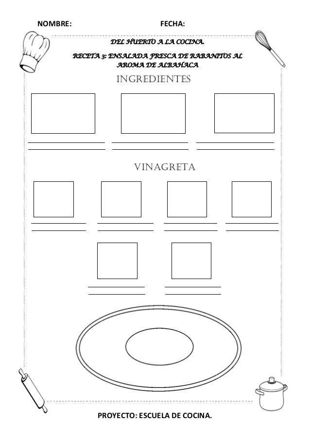 Proyecto escuela de cocina fichas y otros recursos for Proyecto restaurante pdf
