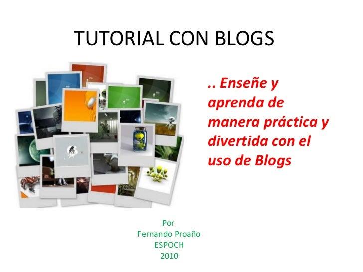 Proyecto final tutorial-blogs