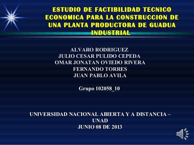 ESTUDIO DE FACTIBILIDAD TECNICOESTUDIO DE FACTIBILIDAD TECNICOECONOMICA PARA LA CONSTRUCCION DEECONOMICA PARA LA CONSTRUCC...