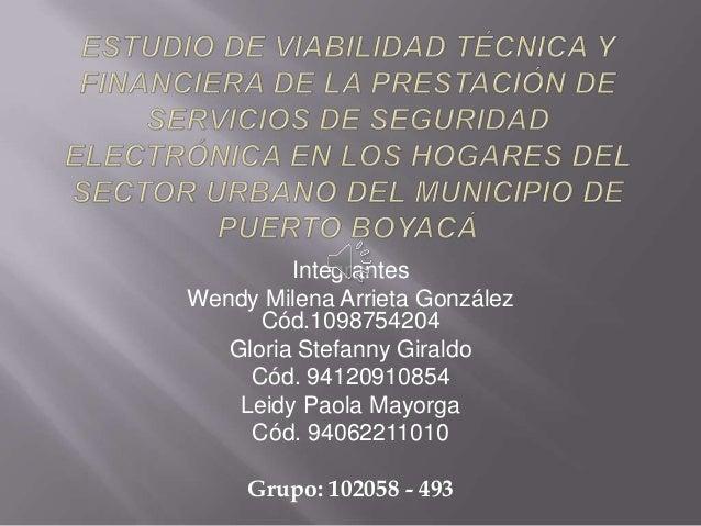 Integrantes Wendy Milena Arrieta González Cód.1098754204 Gloria Stefanny Giraldo Cód. 94120910854 Leidy Paola Mayorga Cód....