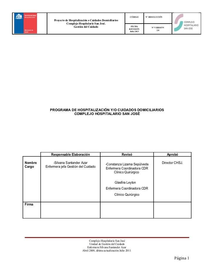 CÓDIGO      Nº RESOLUCIÓN              Proyecto de Hospitalización o Cuidados Domiciliarios                        Complej...