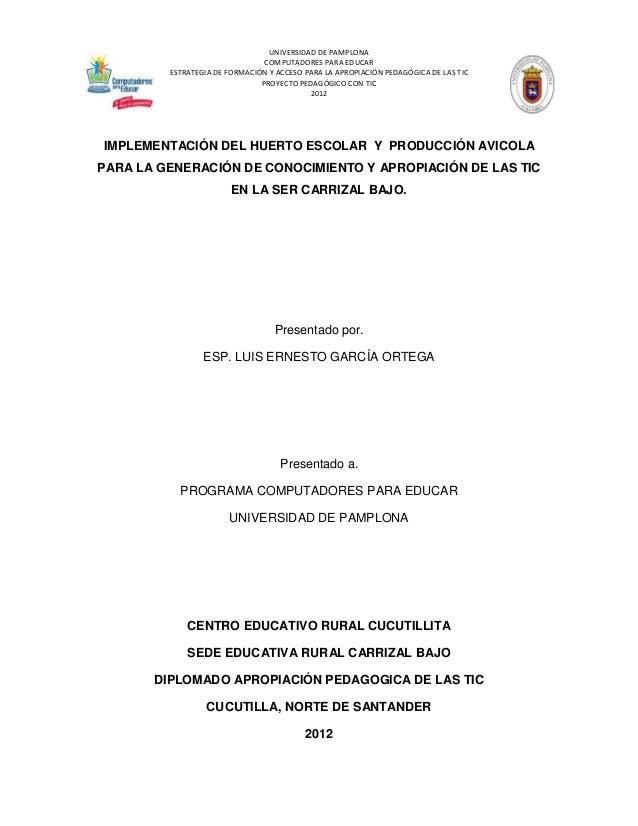 UNIVERSIDAD DE PAMPLONA                                COMPUTADORES PARA EDUCAR         ESTRATEGIA DE FORMACIÓN Y ACCESO P...
