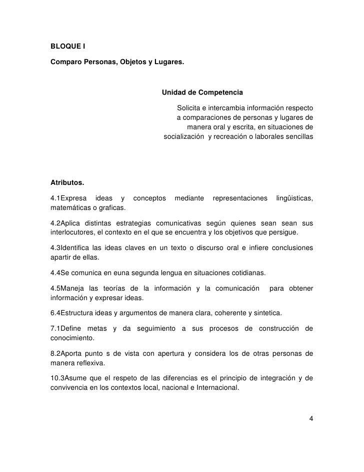 BLOQUE IComparo Personas, Objetos y Lugares.                                  Unidad de Competencia                       ...
