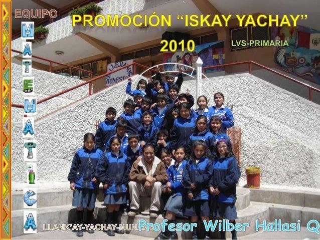 Proyecto innovativo  matemat lvs primaria