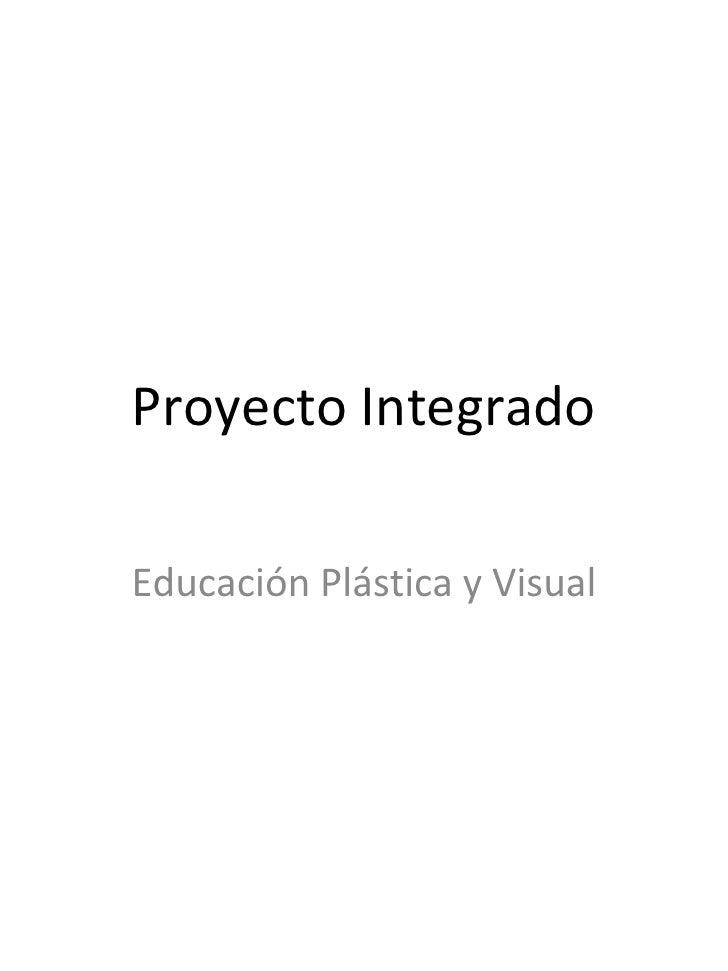 Proyecto Integrado Educación Plástica y Visual