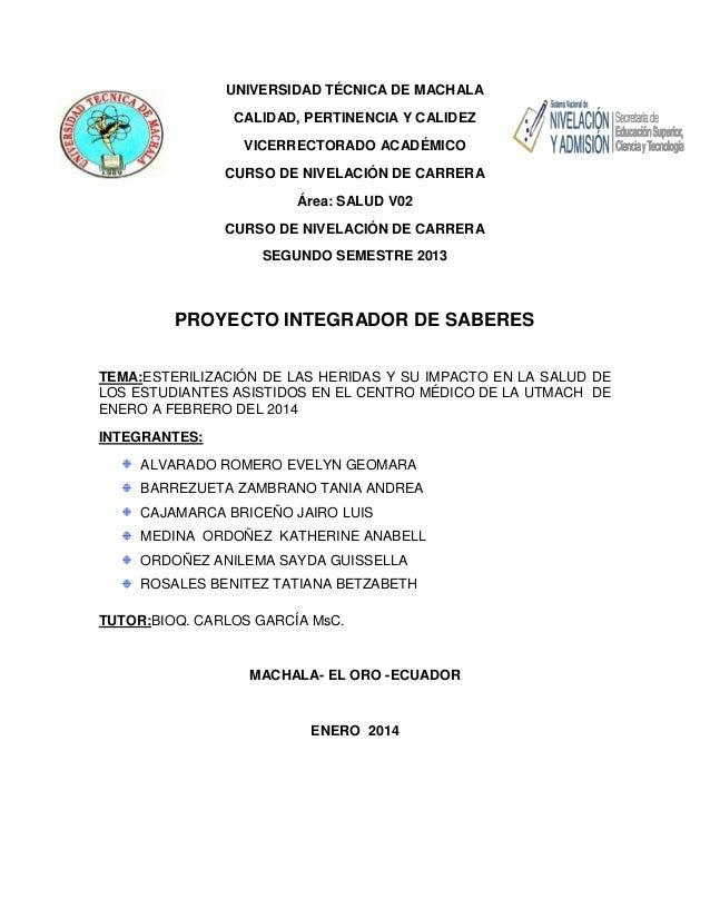 UNIVERSIDAD TÉCNICA DE MACHALA CALIDAD, PERTINENCIA Y CALIDEZ VICERRECTORADO ACADÉMICO CURSO DE NIVELACIÓN DE CARRERA Área...