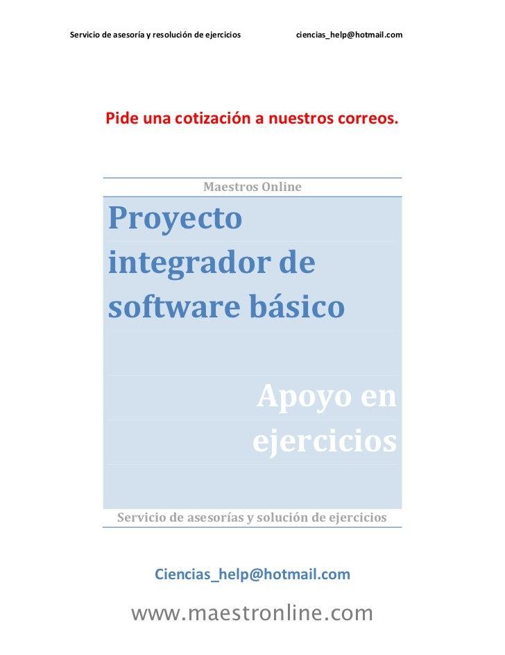 Proyecto Integrador De Software Basico