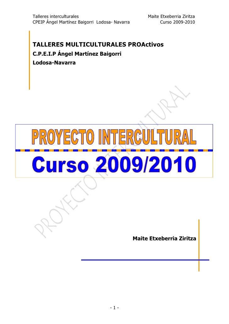 Proyecto intercultural blog