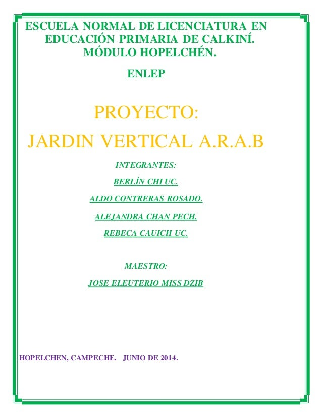 Proyecto jardin vertical for Modulo jardin vertical