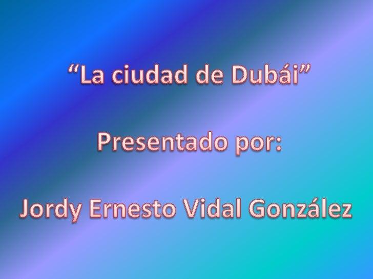 Proyecto Jordy Vidal