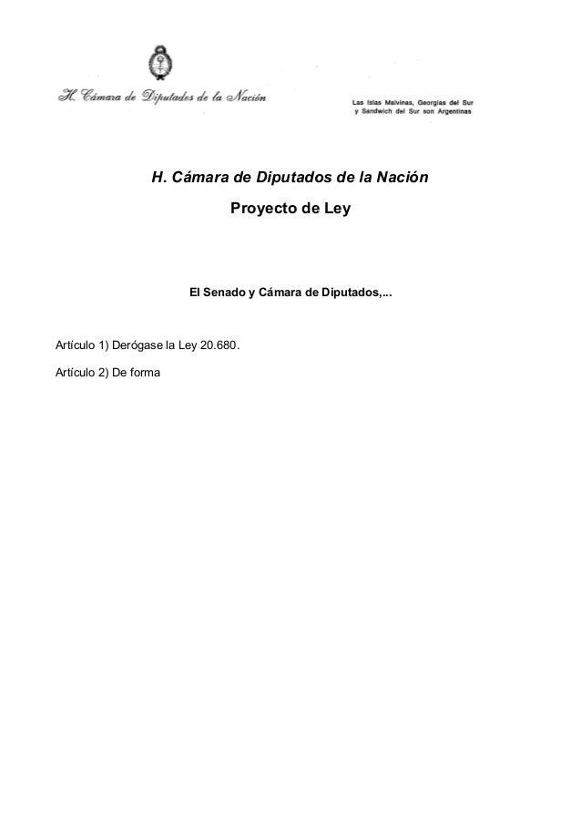 Proyecto ley   derogar ley de abastecimiento