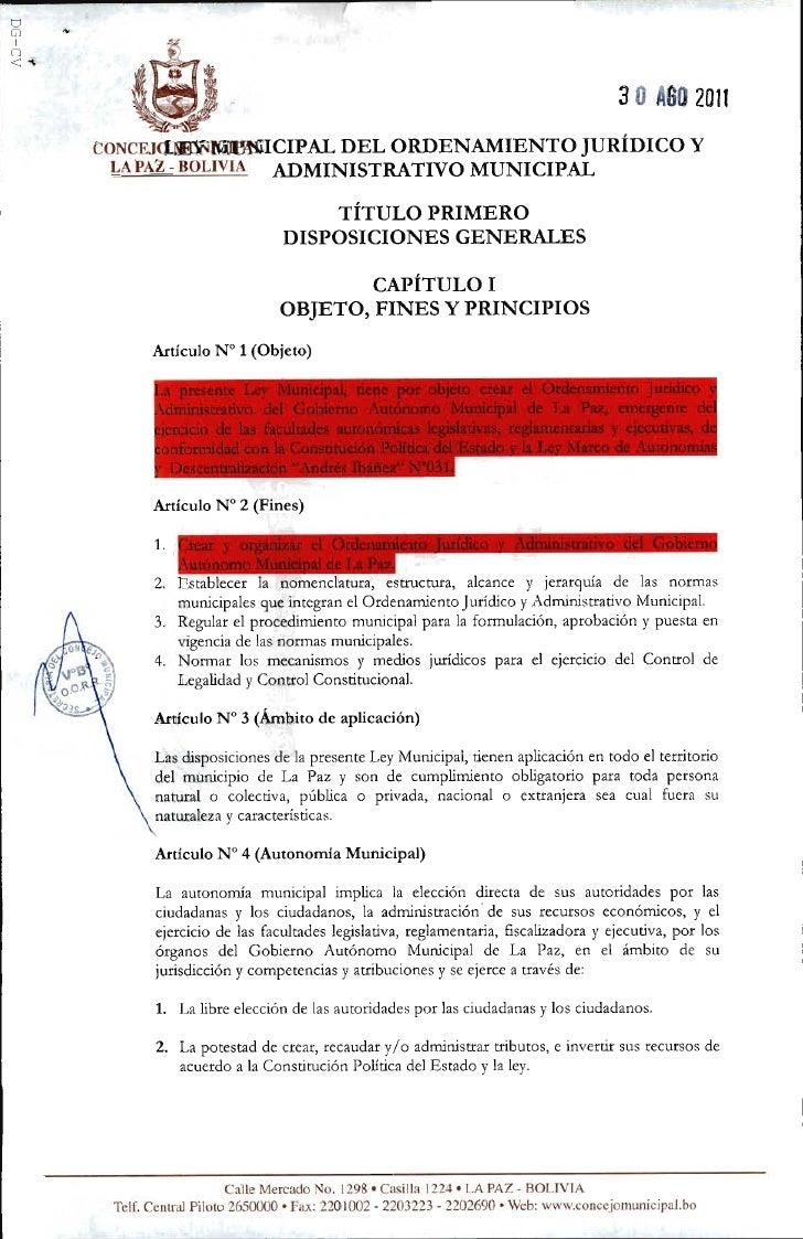 Proyecto ley ordenamiento jurídico