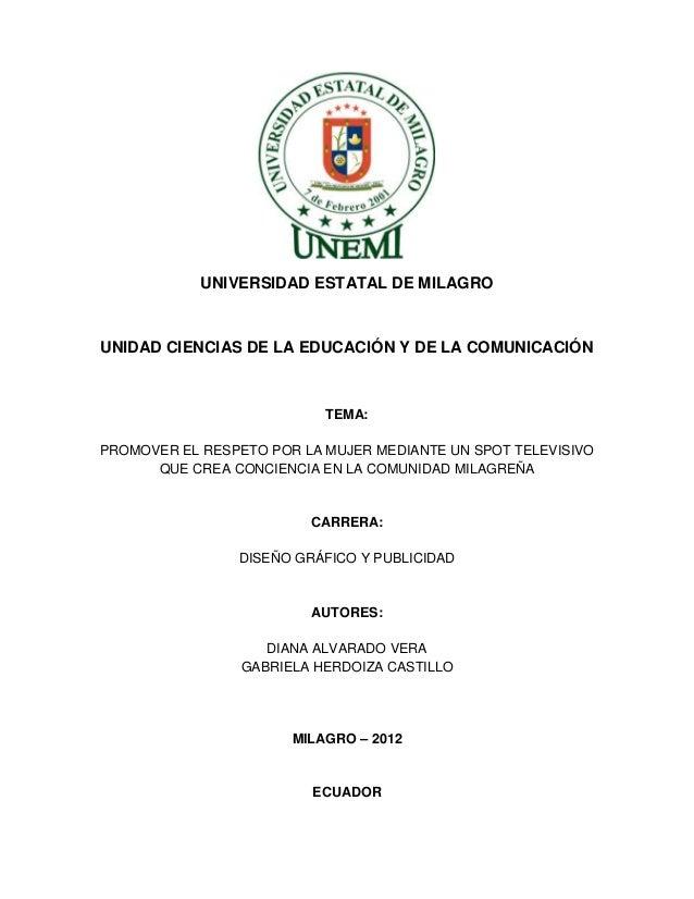 UNIVERSIDAD ESTATAL DE MILAGROUNIDAD CIENCIAS DE LA EDUCACIÓN Y DE LA COMUNICACIÓN                           TEMA:PROMOVER...