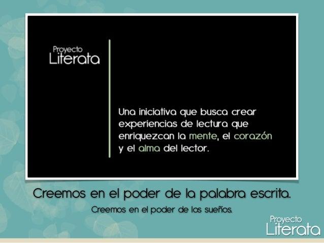 ¿Qué es Proyecto Literata?