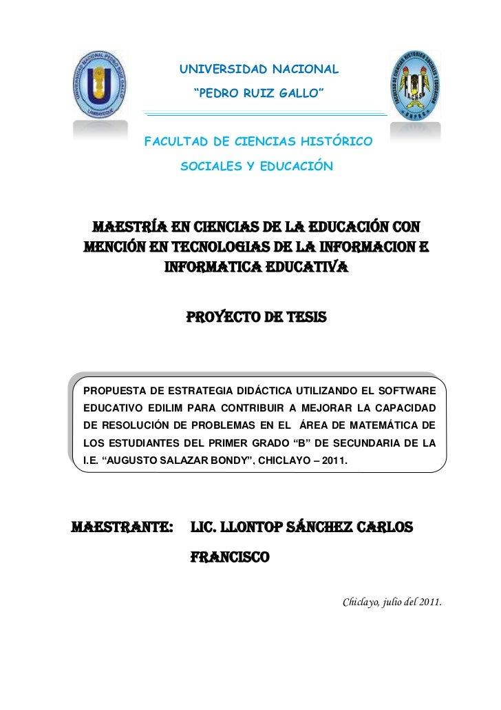 """UNIVERSIDAD NACIONAL                    """"PEDRO RUIZ GALLO""""           FACULTAD DE CIENCIAS HISTÓRICO                 SOCIAL..."""