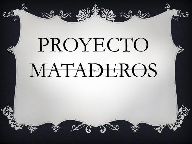 Proyecto mataderos
