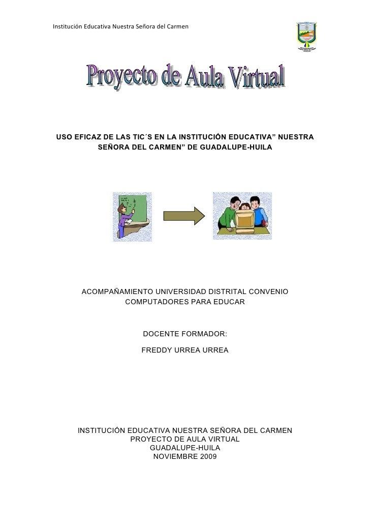 Proyecto Mejoramiento de Aula Ntra. Sra. del Carmen Guadalupe