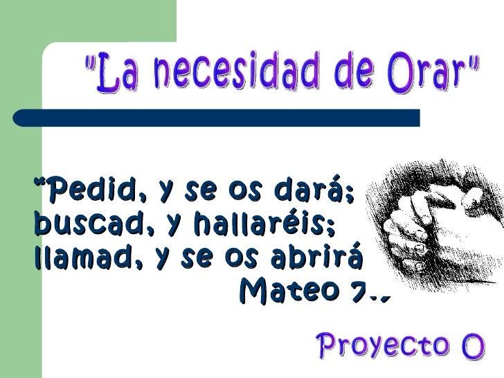 Proyecto o