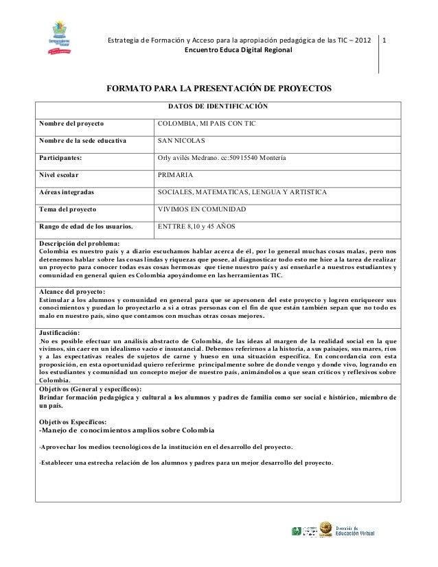 Estrategia de Formación y Acceso para la apropiación pedagógica de las TIC – 2012           1                             ...