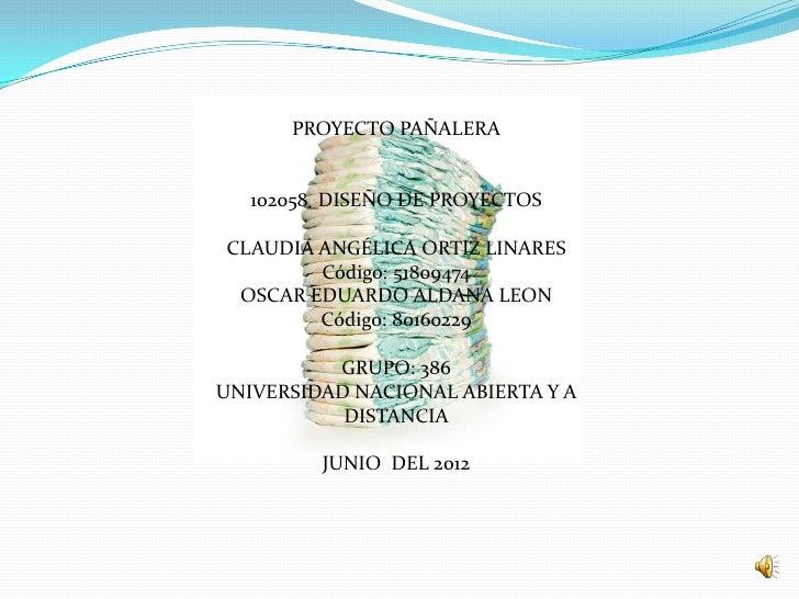 Proyecto pañalera