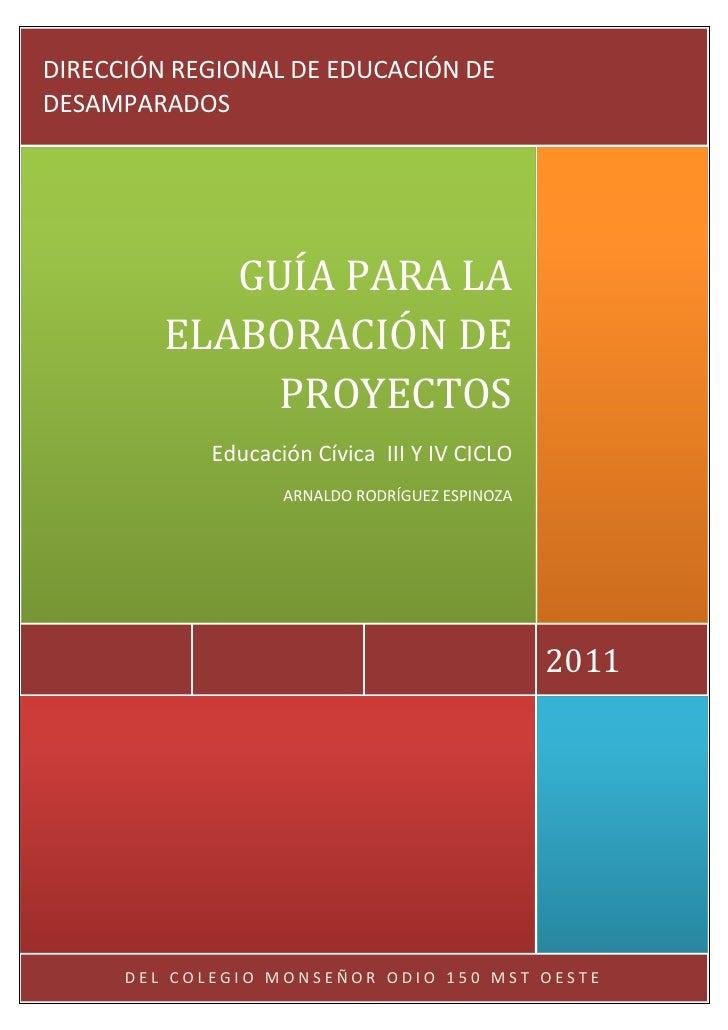 Guía Elaboración Proyectos Cívica.