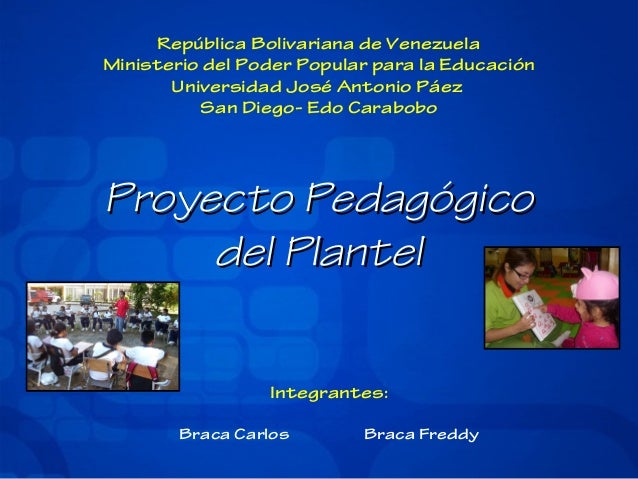 Proyecto pedagogico plantel