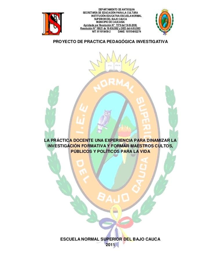 DEPARTAMENTO DE ANTIOQUIA                SECRETARÍA DE EDUCACIÓN PARA LA CULTURA                       INSTITUCIÓN EDUCATI...