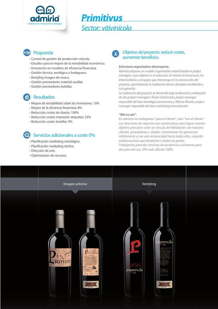 Primitivus                                         Sector: vitivinícola  Propuesta                                        ...