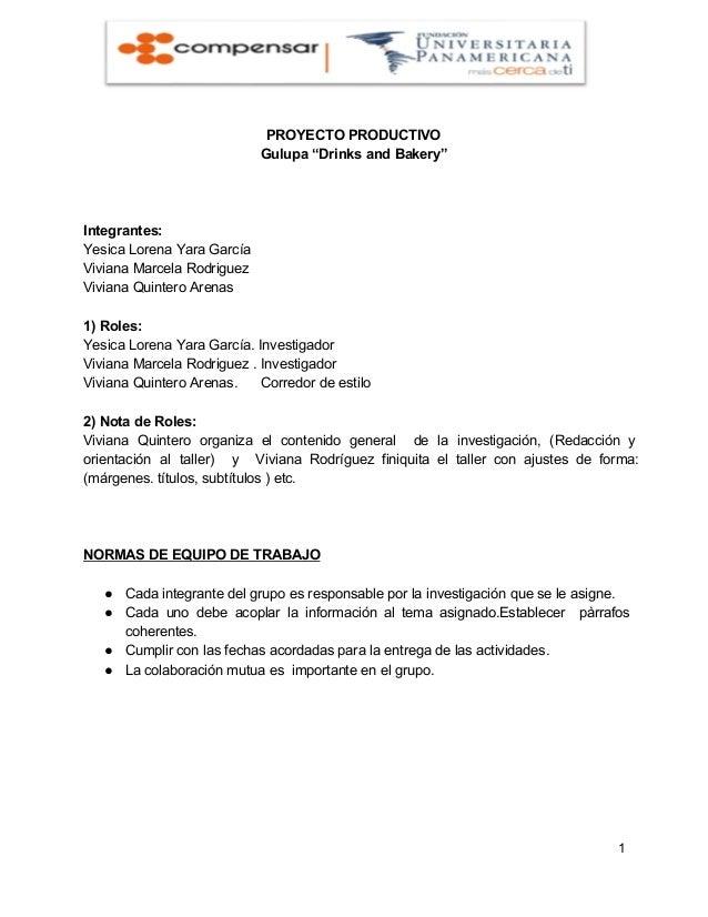 "PROYECTOPRODUCTIVO Gulupa""DrinksandBakery""  Integrantes: YesicaLorenaYaraGarcía VivianaMarcelaRodriguez VivianaQ..."