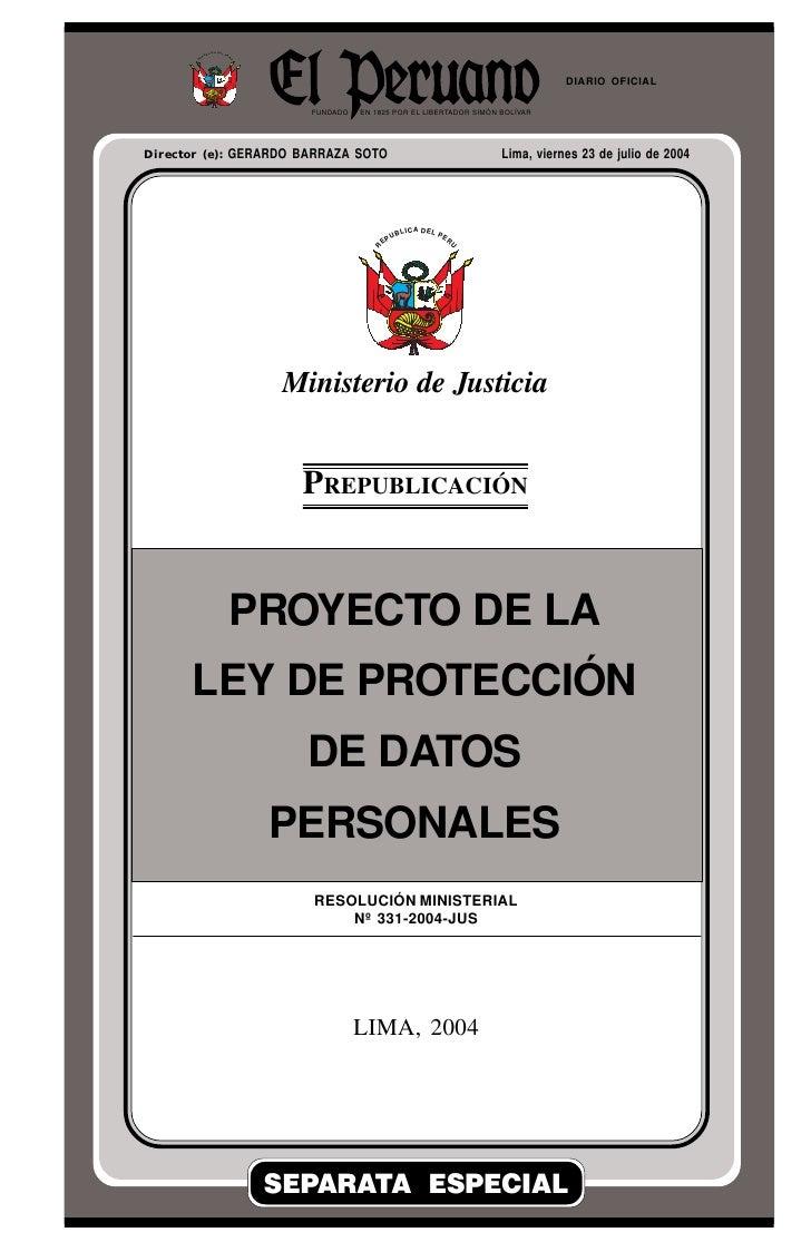 Lima, viernes 23 de julio de 2004                       R                           EP                                UB  ...