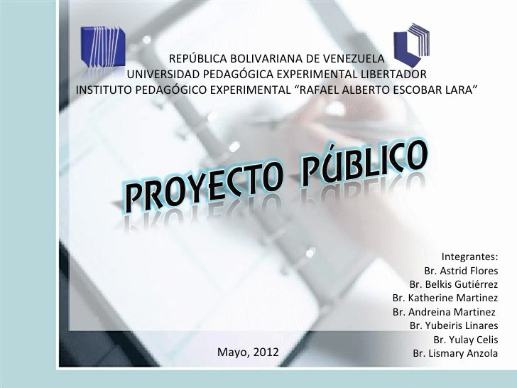 REPÚBLICA BOLIVARIANA DE VENEZUELA        UNIVERSIDAD PEDAGÓGICA EXPERIMENTAL LIBERTADORINSTITUTO PEDAGÓGICO EXPERIMENTAL ...