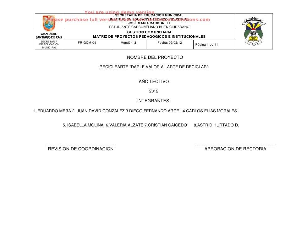 You are using demo version      ©                                  SECRETARIA DE EDUCACION MUNICIPAL      Please purchase ...