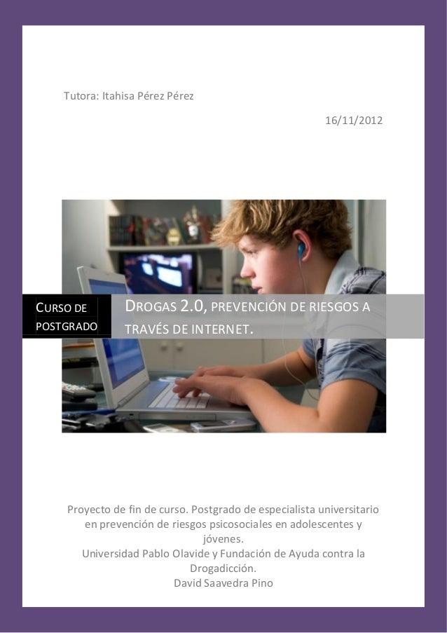 Drogas 2.0 prevención de riesgos a través de internet